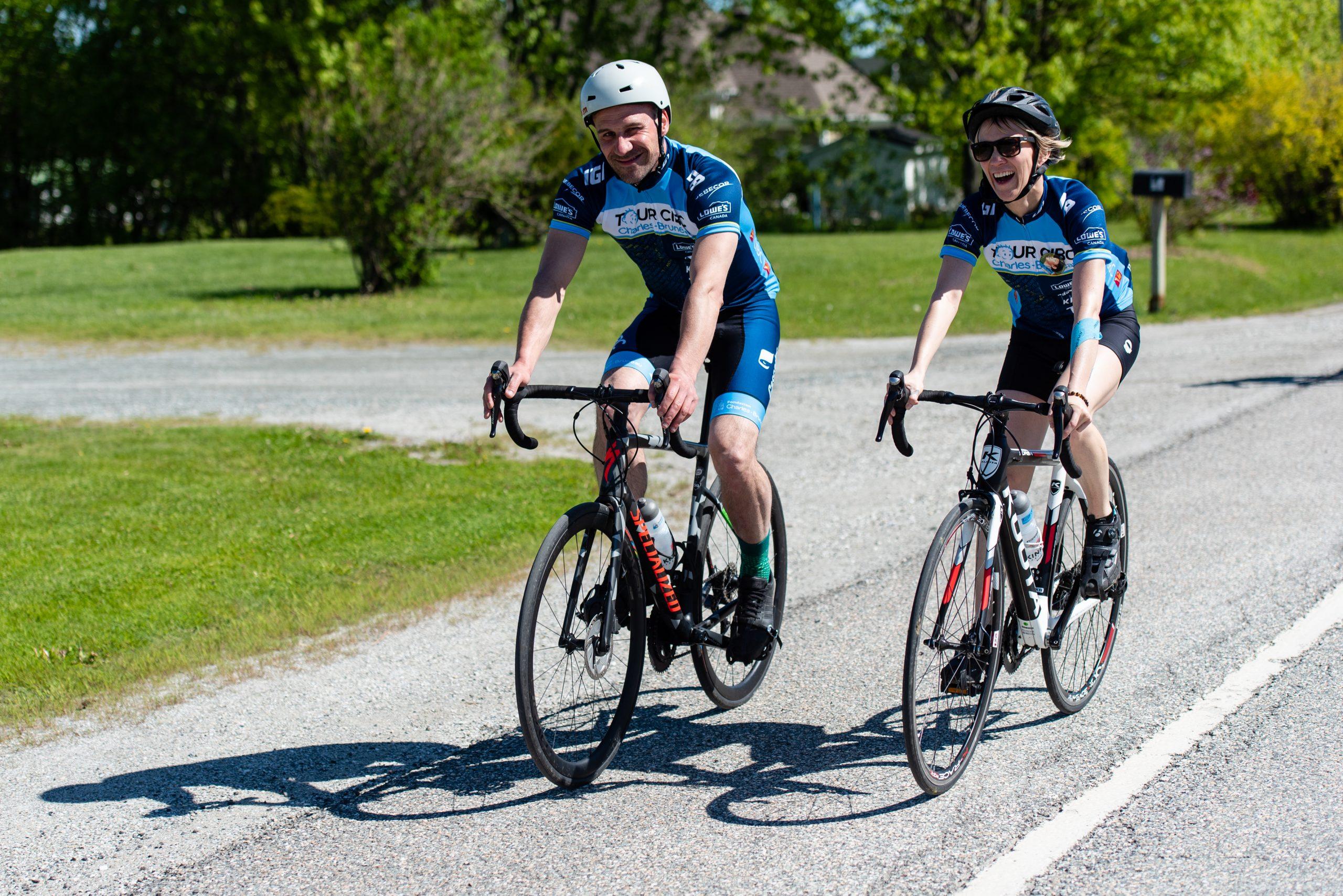 Cyclistes Tour CIBC Charles-Bruneau - Formule à distance